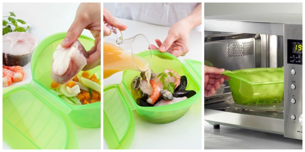 Cocinar al vapor en el microondas dise os for Cocinar en microondas